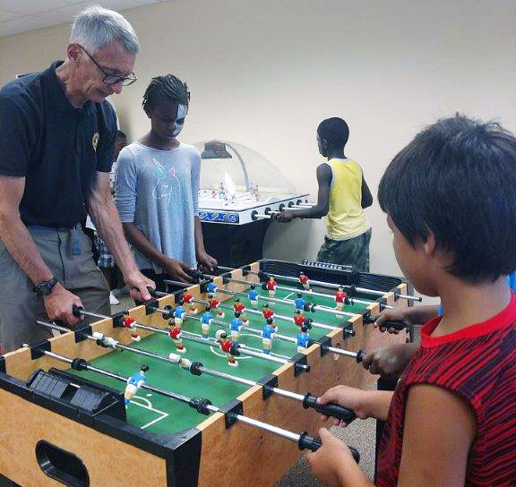 foosball at Salvation Army carnival day